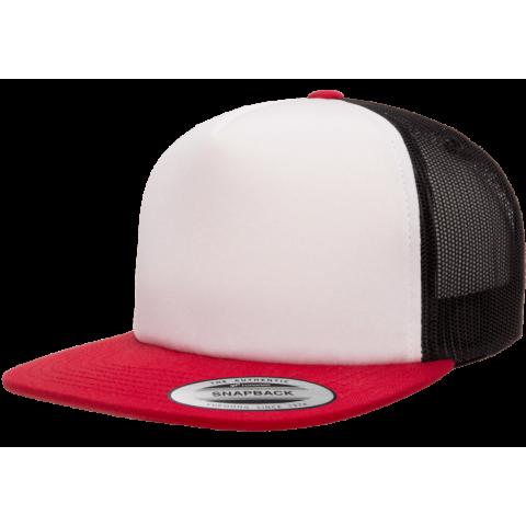 Кепка FlexFit 6005FW NO FOAM Trucker Red/White/Black